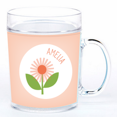 personalized cup | flower