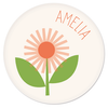 personalized kids plate | flower