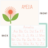 personalized kids placemat | flower