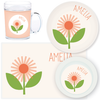 personalized mealtime set | flower