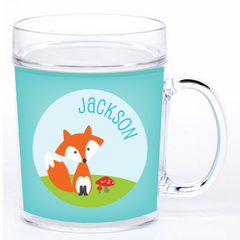 personalized cup | cheerful fox