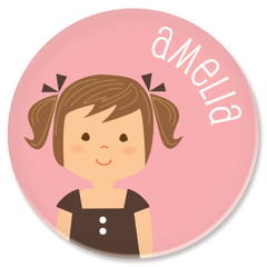 personalized childrens plate | girl