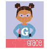 personalized puzzle | superhero girl