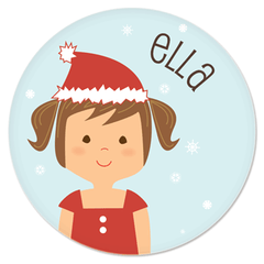 personalized Christmas plate | girl