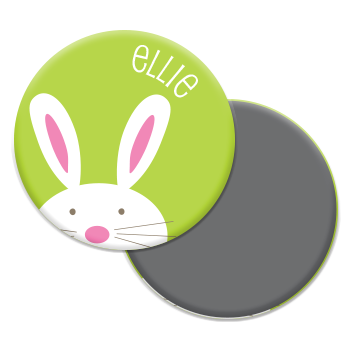 personalized bunny magnet | green