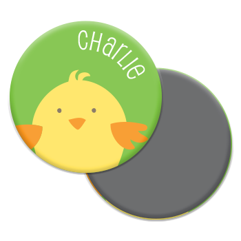 personalized chick magnet | green