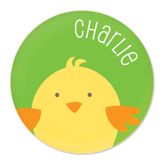 personalized chick plate | green