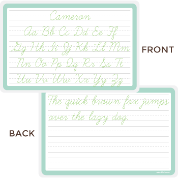 practice your handwriting placemat | cursive