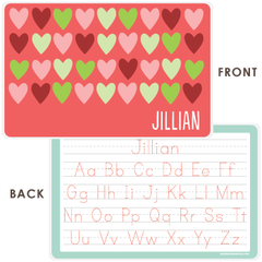 personalized kids placemat | hearts