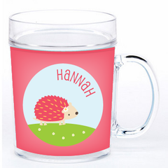 personalized cup | cheerful hedgehog