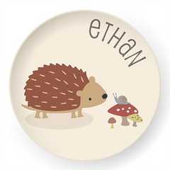 personalized kids plate | hedgehog