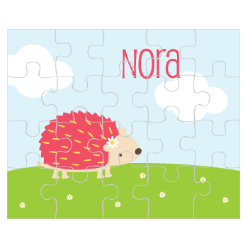 personalized puzzle | hedgehog