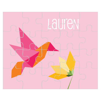 personalized puzzle | hummingbird