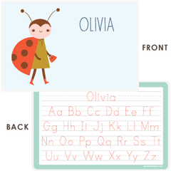 personalized kids placemat | ladybug