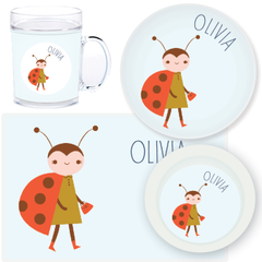 personalized mealtime set | ladybug