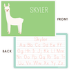 personalized kids placemat | llama