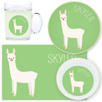 personalized mealtime set | llama