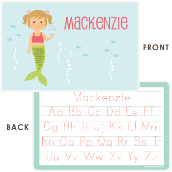 personalized kids placemat | mermaid