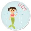 personalized childrens plate | mermaid