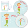 personalized mealtime set | mermaid