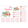 name labels | floral