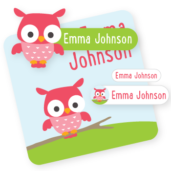 name labels | owl