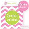 name labels | pink chevron
