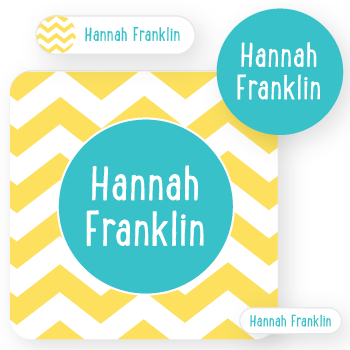 name labels | yellow chevron