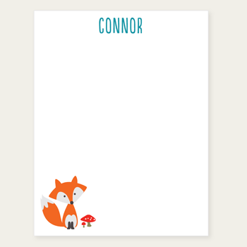 personalized notepad | fox