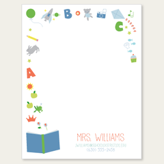 personalized teacher notepad | learning is fun