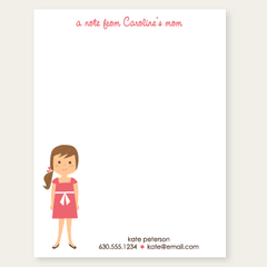 custom notepad for mom | girl
