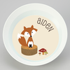 personalized mealtime set | natural fox