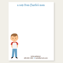 custom notepad for mom | boy