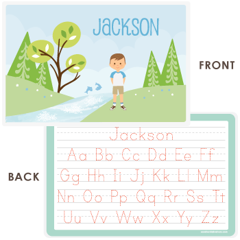 great outdoors placemat | boy