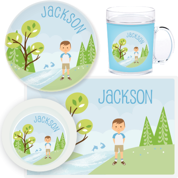 great outdoors mealtime set | boy