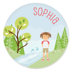 great outdoors plate | girl