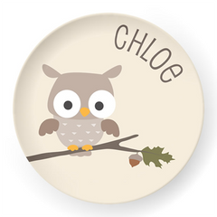 personalized kids plate | owl