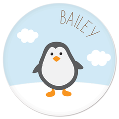 personalized plate | penguin