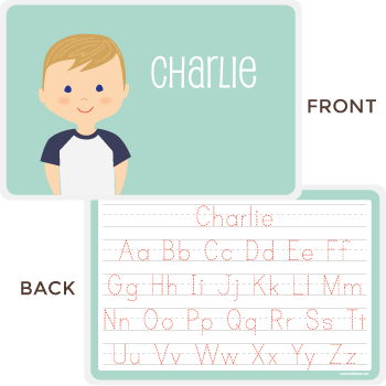 personalized kids placemat | boy