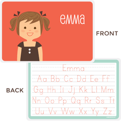personalized kids placemat | girl
