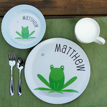 personalized kids plate | frog