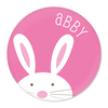 personalized bunny plate | pink