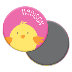 personalized chick magnet | pink