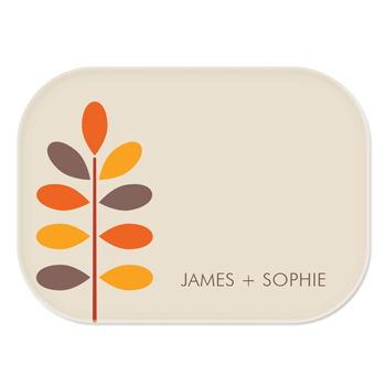 personalized platter | autumn branch