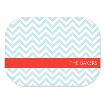 personalized platter | pool chevron