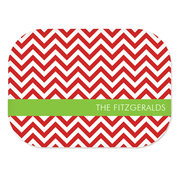 personalized platter | red chevron
