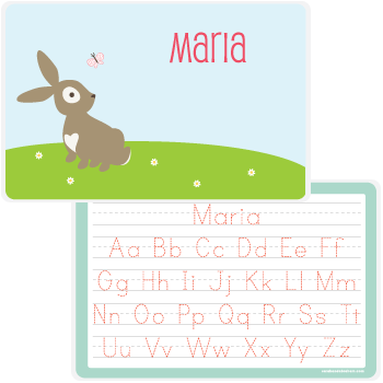 personalized kids placemat | bunny