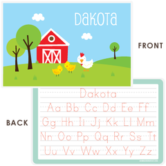 personalized kids placemat | chickens