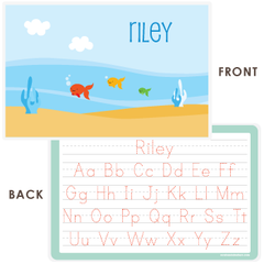personalized kids placemat | fish