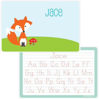 personalized kids placemat | fox